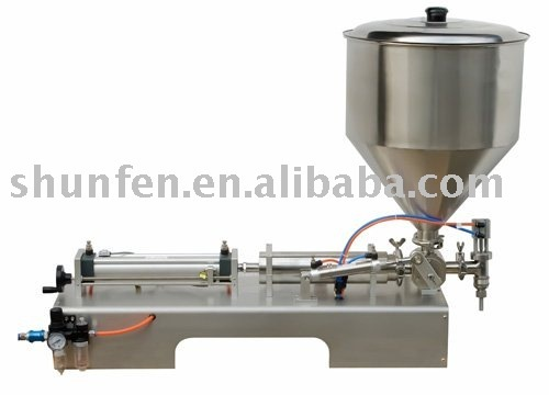 (Free Shipping) Pneumatic Sauce Filling Machine (one-head cream filling machine, ointment filler, paste filling machine)