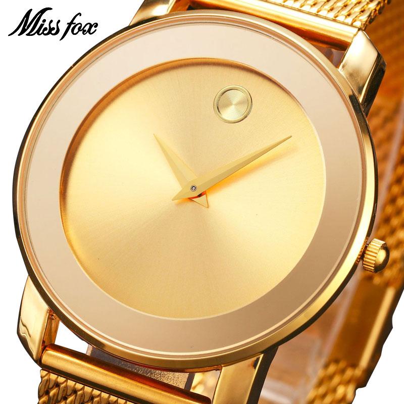 MISSFOX Miss Fox Fashion dameshorloges Rose Gold Luxury Dameshorloge - Dameshorloges