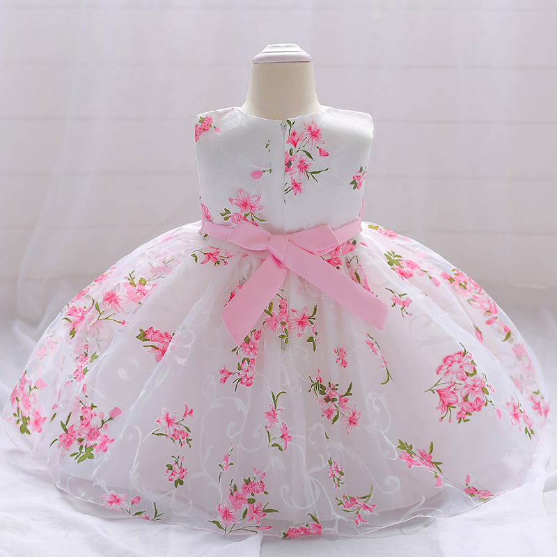 Vintage Baby Dresses 1 2 Year First Birthday Girl Party Infant Dress 2018 Newborn Wedding Baptism Christening Gown For Baby Girl (9)