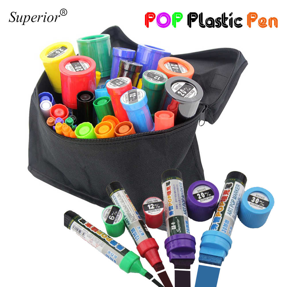 6/12/20/30MM writing thickness POP marker pen Art Advertising Pens Painting poster graffiti Pen Paint Marker