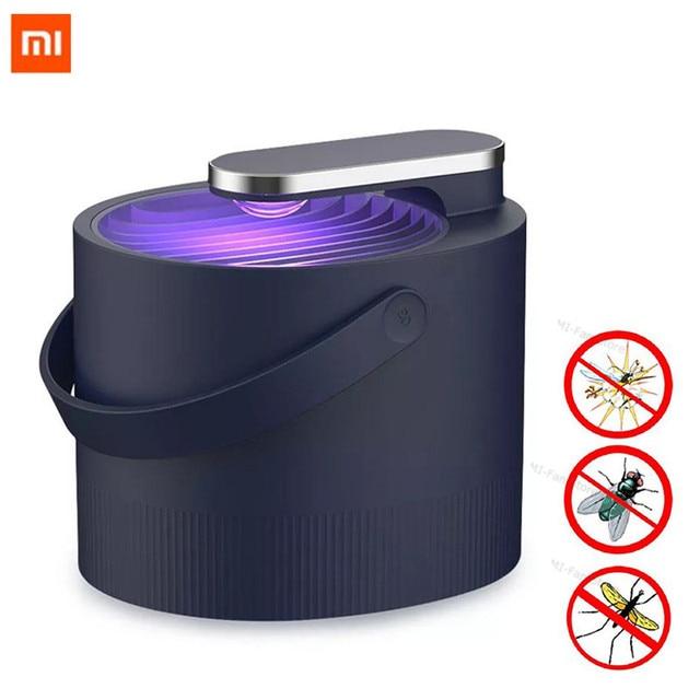 Más Xiaomi Mijia Mosquito asesino Lámpara USB fotocatalizador Mosquito repelente de insecto asesino lámpara trampa UV de luz inteligente