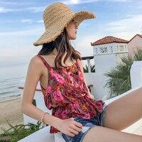 Jastie Gypsy Desert Daisy Blouse 2019 Summer Sleeveless Women Shirt Top Hippie Boho Chic Beach Tops Camisole Vest Blouses Blusa
