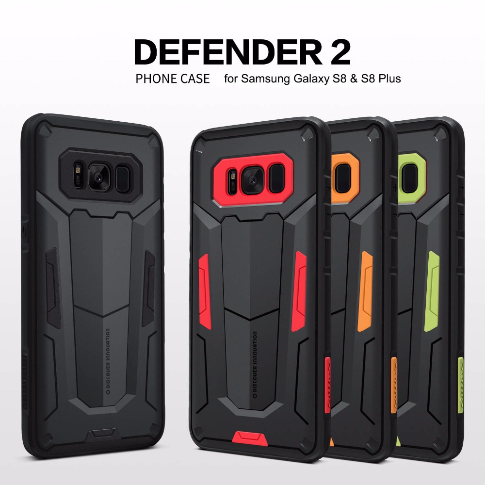 for Samsung Galaxy S9 Plus / S9 Nillkin Defender 2 Armor Protective Back Case Cover for Samsung Galaxy S8 Plus / S8 Phone Case