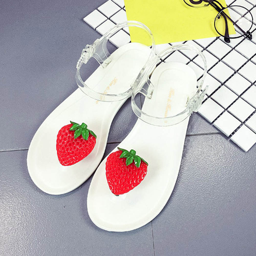 e5aa10bccd8 2017 New Fashion Sandals Women Fruit Flip flops Sandals Shoes Girls Flats  Plate Flip Flop Beach Sandals Casual Comfortable Shoes-in Low Heels from  Shoes on ...
