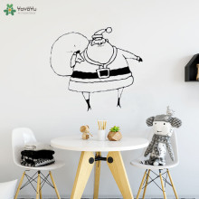 YOYOYU Wall Decal Creative Cute Santa Claus Vinyl Sticker For Kids Room Merry Christmas Livingroom Decoration Gift ArtCT599