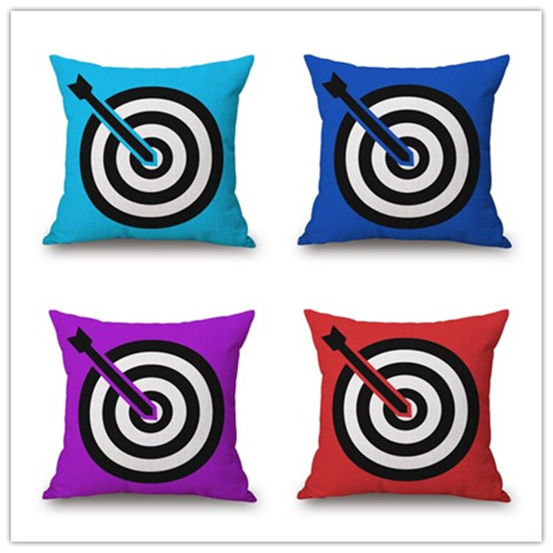Fashion Cartoon Style Target Printed Decor Cushion Pillow Almofada Home Linen CottonThro ...