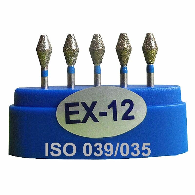 ჱ15 piezas Dental diamante Burs EX 12 taladro DIA-BURS para ...