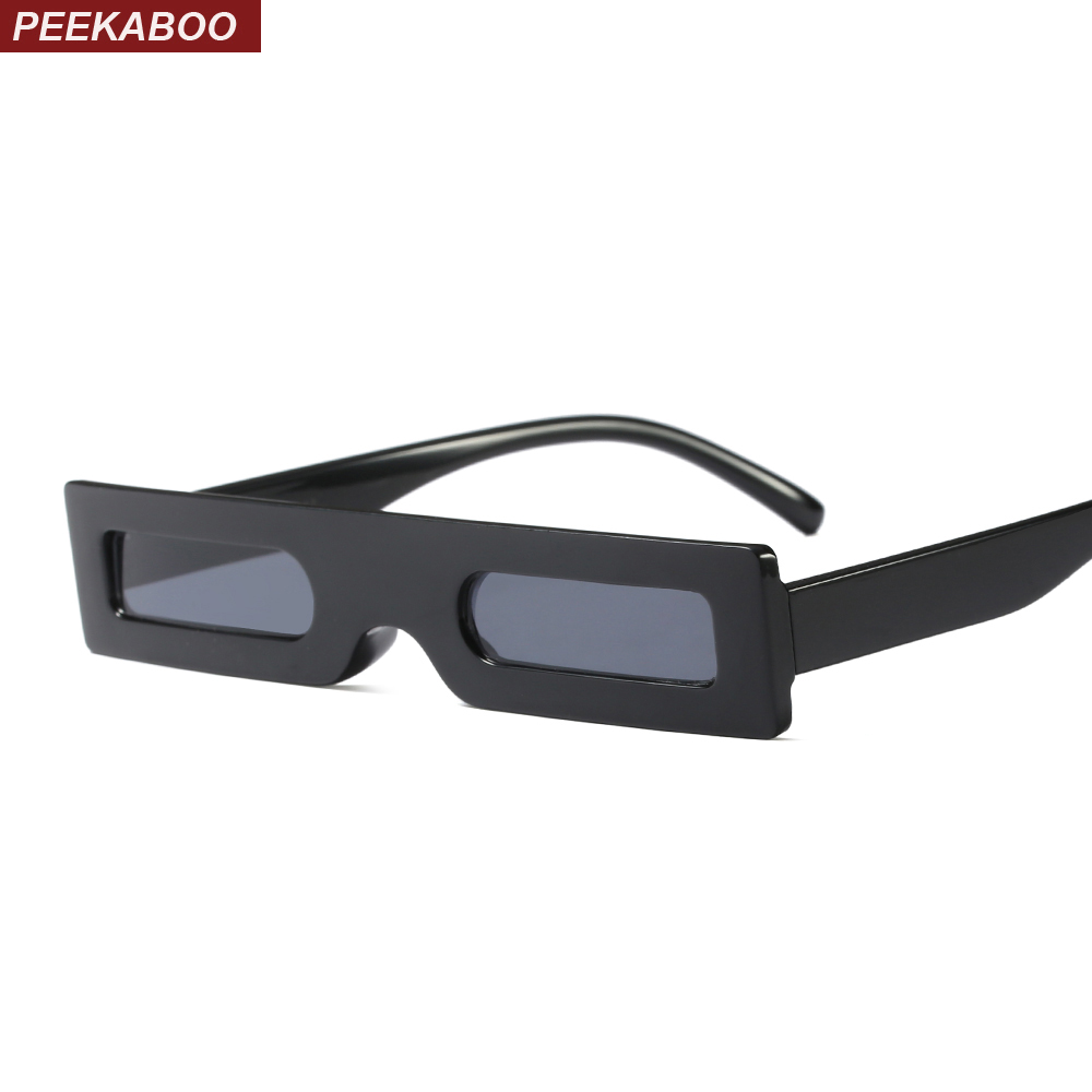 Peekaboo small rectangle sunglasses men vintage retro black leopard red square sun glasses for women 2018 men gift party
