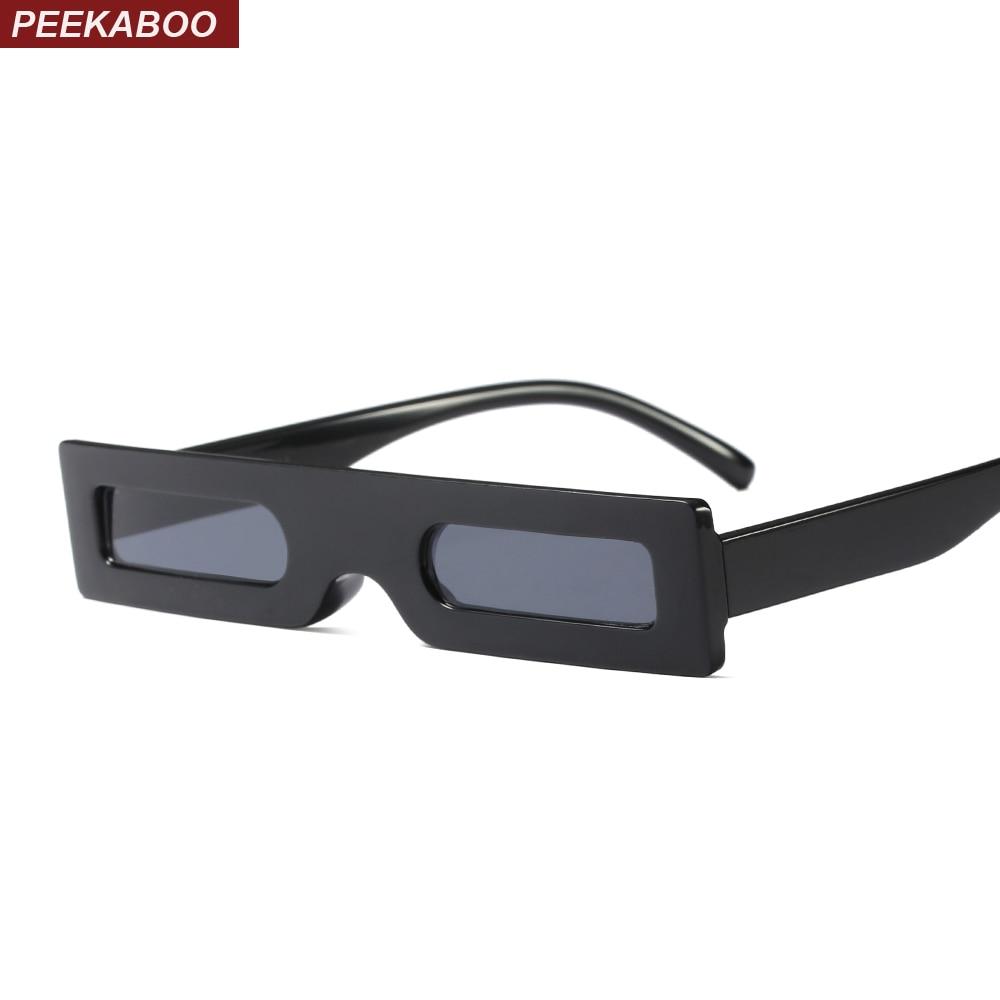 Peekaboo small rectangle sunglasses men vintage retro black leopard red square sun glasses for women 2018 men gift party