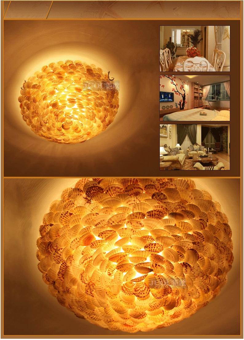 Estilo mediterrâneo escudo natural luzes de teto