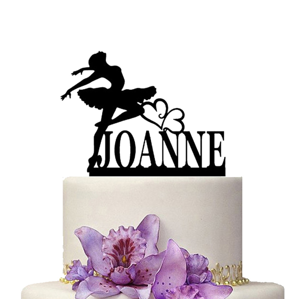 Personalize Birthday Cake Topper Dancing Butterfly Ballet Wedding ...