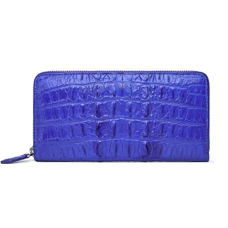 Mode Long rouge Bleu Classique Femmes Décontracté Dames Coccyx Peau De Véritable bourgogne pourpre Luxe Qualité Main Portefeuille À 100 Crocodile Sac Designer vert fx1fUvqT