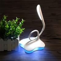 Hot LED Clover Table Desk Lamp Yellow Blue 3 Level Sensor Touch Night Light Eye Protection