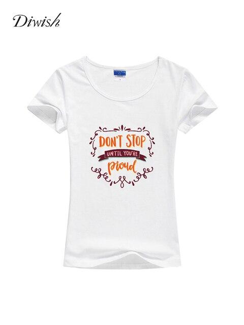 Diwish Womens T Shirt Tops Casual Summer Short Sleeve Tshirt Plain Cotton T Shirt Letter Printed Summer Tops for Women 2019