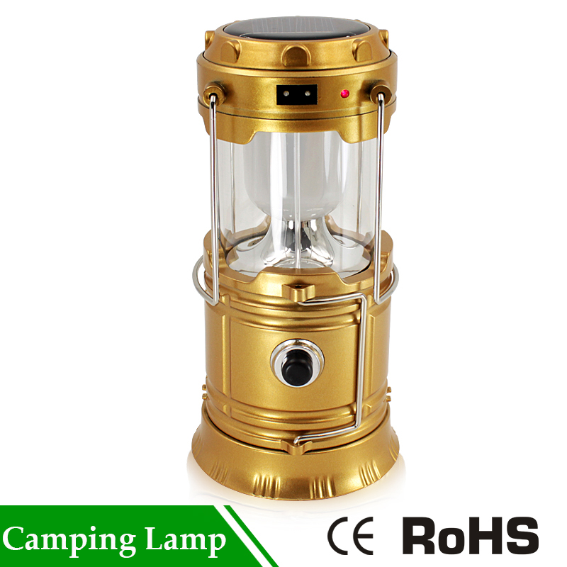 Rechargeable Hiking Portable Lights Ultra Bright Solar USB Camping Tent Lamp Outdoor Lanterna Light Lantern Outdoor Collapsible