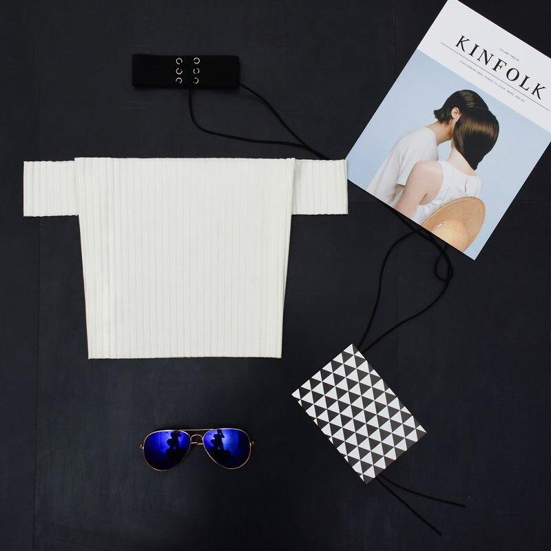 AmberHeard 2018 Fashion Women T Shirt Casual Off Shoulder Crop Tops Knitted Ribbed T-shirt Kyliejenner Sexy Tee Shirt Femme