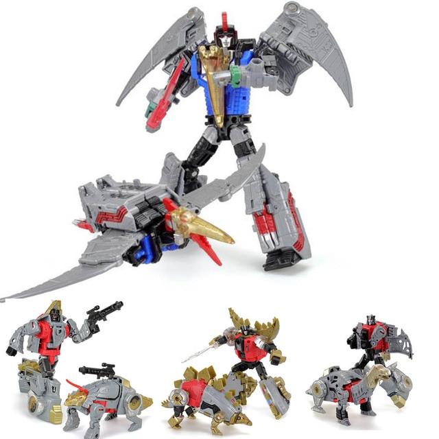 G1 Transformation Dinoking Volcanicus Grimlock Slag Sludge Snarl Swoop slash Dinobots 5IN1 Action Figure Robot Toys