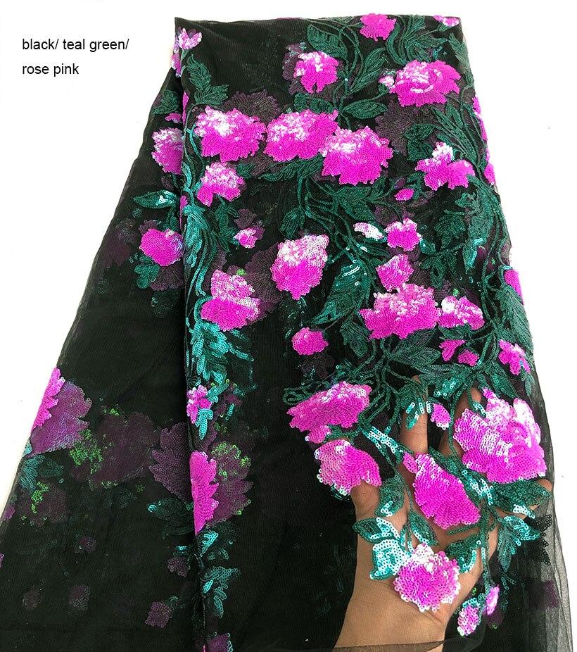 좋은 꽃 장식 조각 얇은 명주 그물 레이스 반짝 이는 부드러운 프랑스어 레이스 원단 아프리카 의류 봉제 천 조각 당 5 야드 고품질-에서레이스부터 홈 & 가든 의  그룹 1