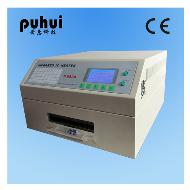 PUHUI T-962A Infrared IC Heater Reflow Oven BGA SMD SMT Rework Sation Reflow Wave Oven