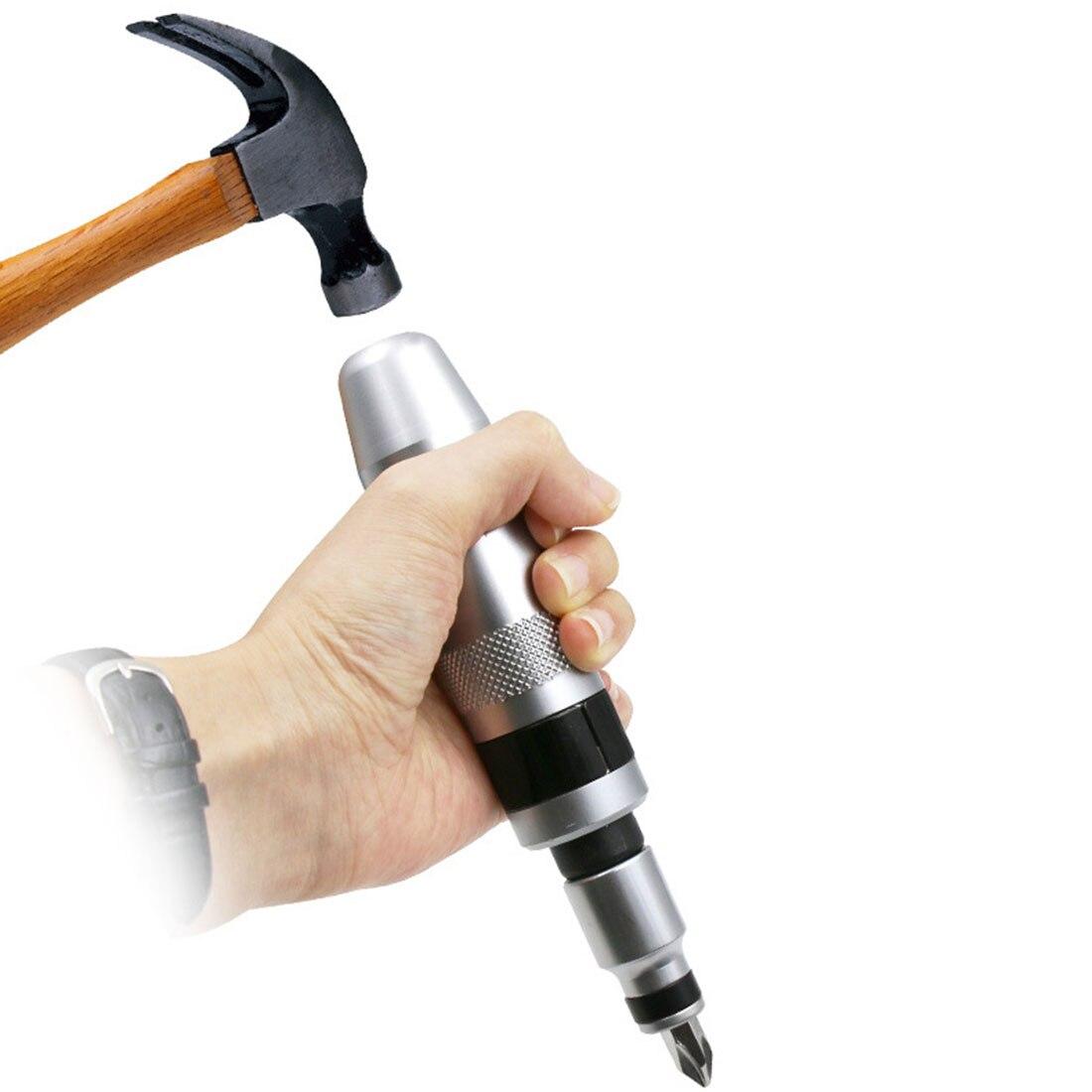 7pcs Multi-purpose Heavy Duty Shock Screw Driver Chisel Bits Tools Socket Kit Impact Screwdriver Set With Case Flat
