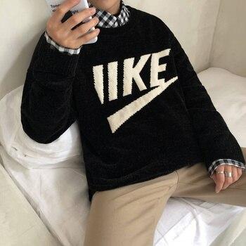 Suéter de invierno de los hombres de moda caliente cómoda transpirable  Casual Hombre Ropa Streetwear de manga larga o-Cuello de punto jersey hombre 99c51a29cf8e