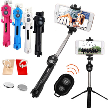 3 in 1 Bluetooth Selfie Stick Tripod Extendable Monopod Universal For iPhone XR X 7 6s Plus For Samsung For Huawei Tripod