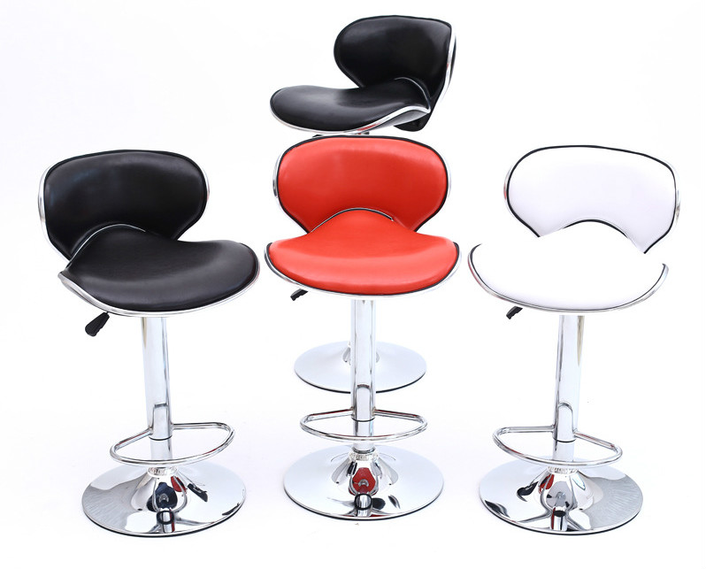 High Quality Lifting Swivel Bar Counter Chair Rotating Adjustable Height Bar Stool Chair Stainless Steel Stent Cadeira 3 Colors