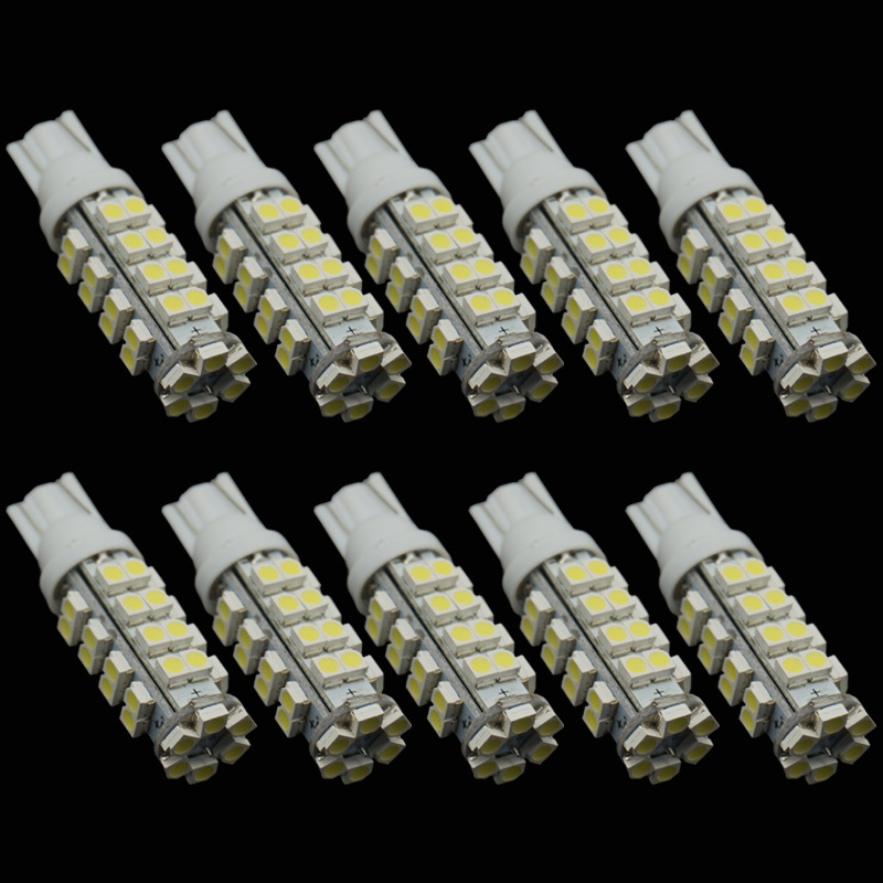 CQD-Light 10PCS  T10 38 SMD Led Automotive Bulb 38 Leds 3528 SMD W5W 168 194 921 Interior Parking Lights Lamps Bulbs 12V DC 0 9m smd 3528 90 leds waterproof led rope light festival lighting