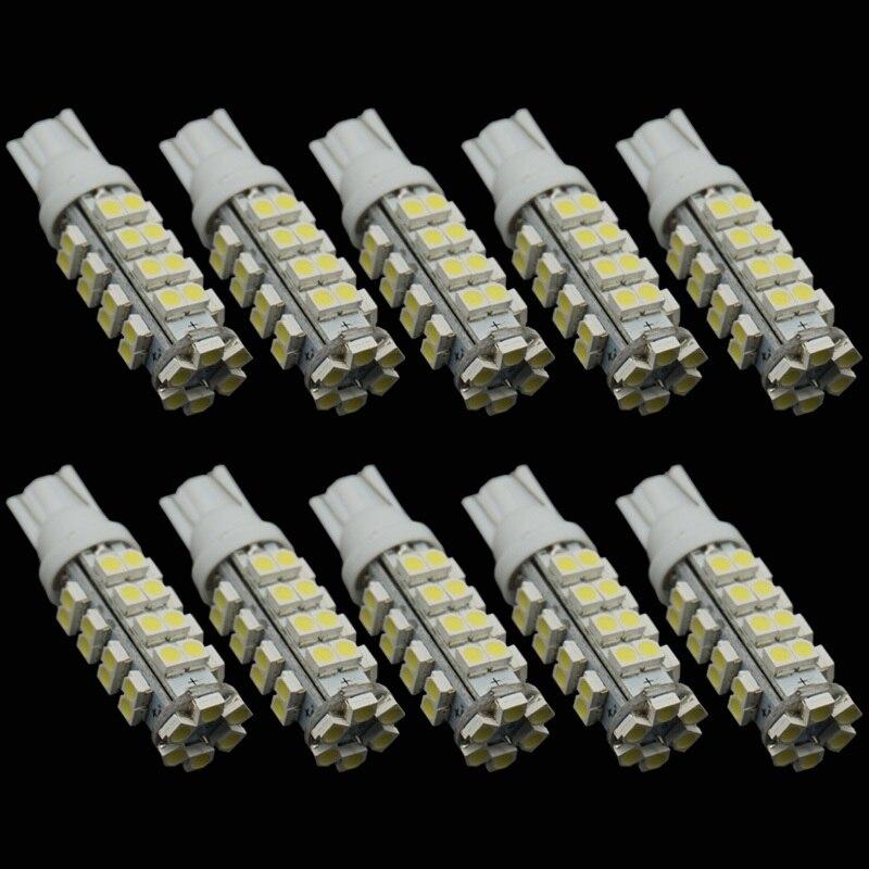 CQD-Light 10PCS  T10 38 SMD Led Automotive Bulb 38 Leds 3528 SMD W5W 168 194 921 Interior Parking Lights Lamps Bulbs 12V DC