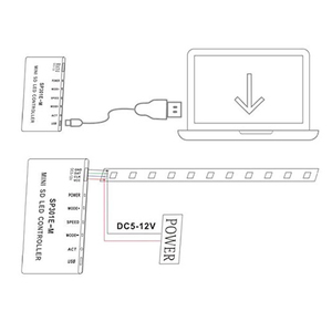 Image 5 - Apa102 sk6812 ws2812b ws2811 led 스트립 조명에 대 한 SP301E M/SP301E MS 프로그래밍 가능한 rf 동기 컨트롤러