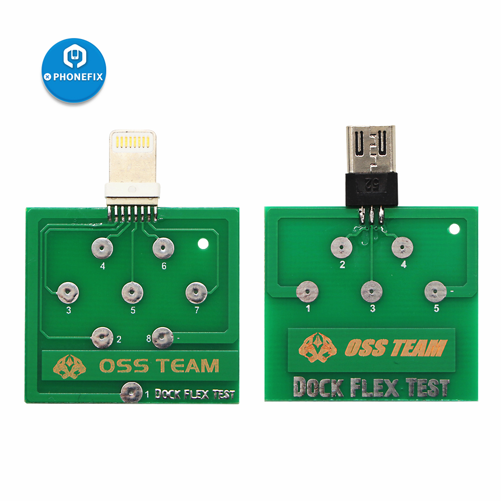 PHONEFIX Charging Dock Flex Tester Repair Micro USB PCB Test Board for iPhone Andorid Battery Power Fix ToolPHONEFIX Charging Dock Flex Tester Repair Micro USB PCB Test Board for iPhone Andorid Battery Power Fix Tool