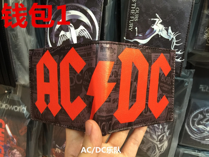 NEW ACDC AC/DC Angus Young Highway to Hell Rock Bi Fold Men's Money Purse Wallet W186