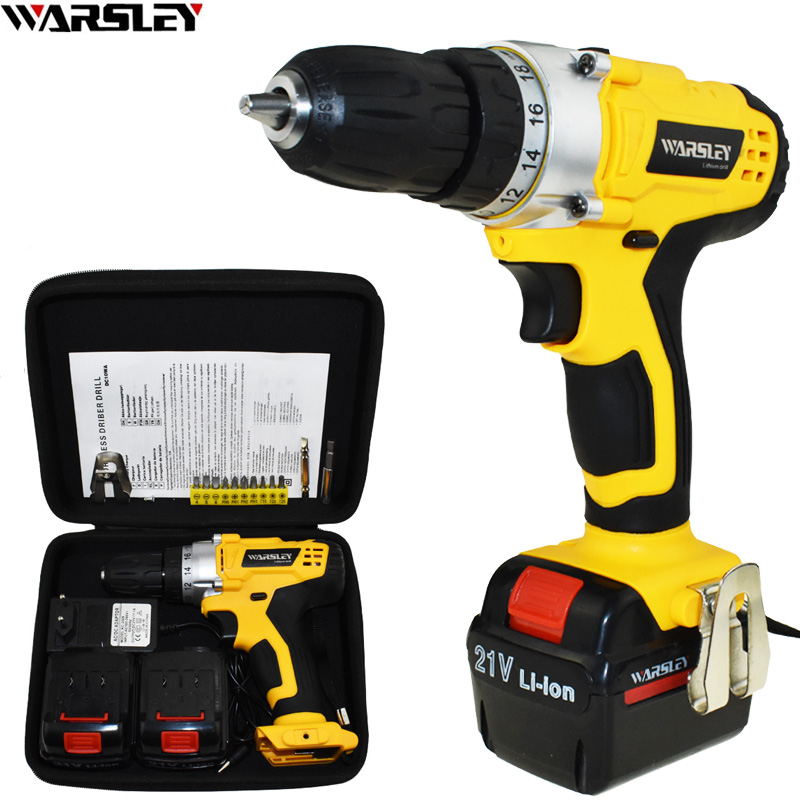 21V Power Tools Battery Drill Cordless Electric Screwdriver Drill Electric Drill Electric Screwdriver Mini Electric Drilling 21v power tools double speed hand electric drill cordless drill battery drill electric screwdriver mini drilling 45 n m torque