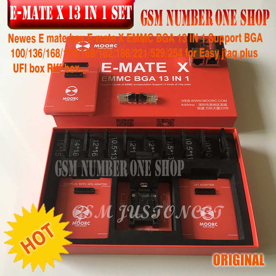 Image 5 - New version Full set Easy Jtag plus box + MOORC E MATE X E MATE PRO BOX EMMC BGA 13 IN 1 For HTC/ Huawei/LG/Motorola /Samsung..-in Communications Parts from Cellphones & Telecommunications