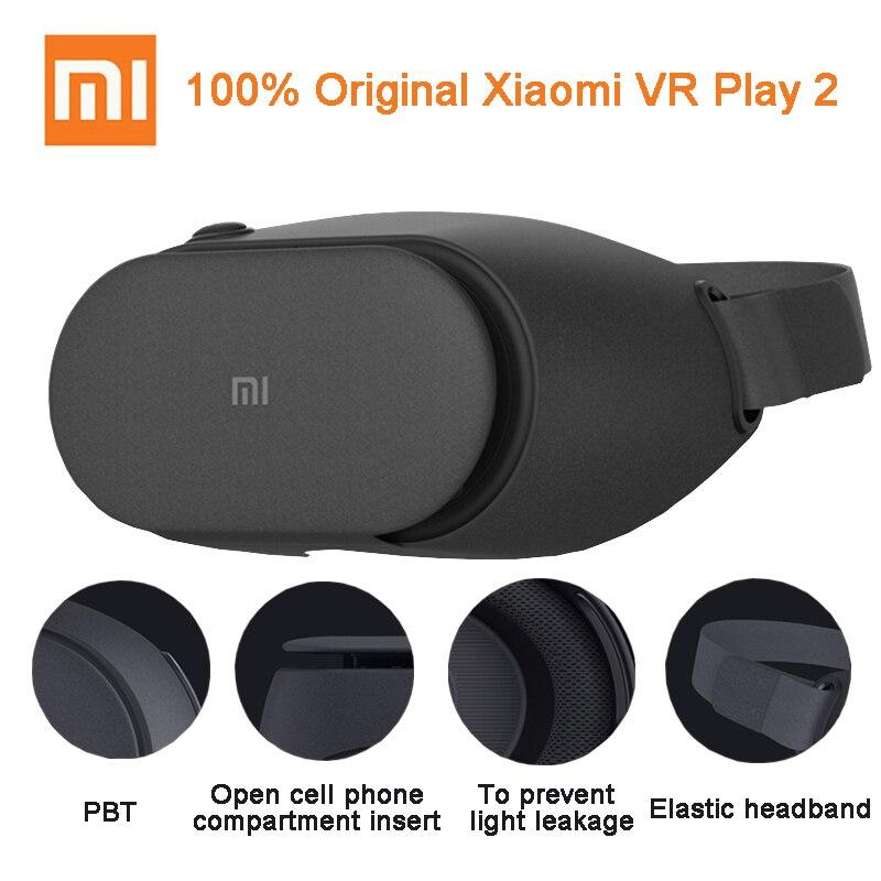 100% оригинал Сяо Mi VR play 2 виртуальной реальности 3D Очки погружения для 4.7-5.7 дюймов 1080 P смартфонов для Samsung Huawei