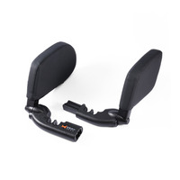 Side Support Soft PU Leather Adults Retractable Auto Adjustable Children Cushion Neck Pillow Shockproof Car Seat Headrest Sleep