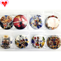 Love Thank You Kingdom Hearts Birth by Sleep 45MM 4pcs/8 pcs lot PIN BACK BADGE BUTTON BROOCH for BAG GIFT TOY CLOTH Anime