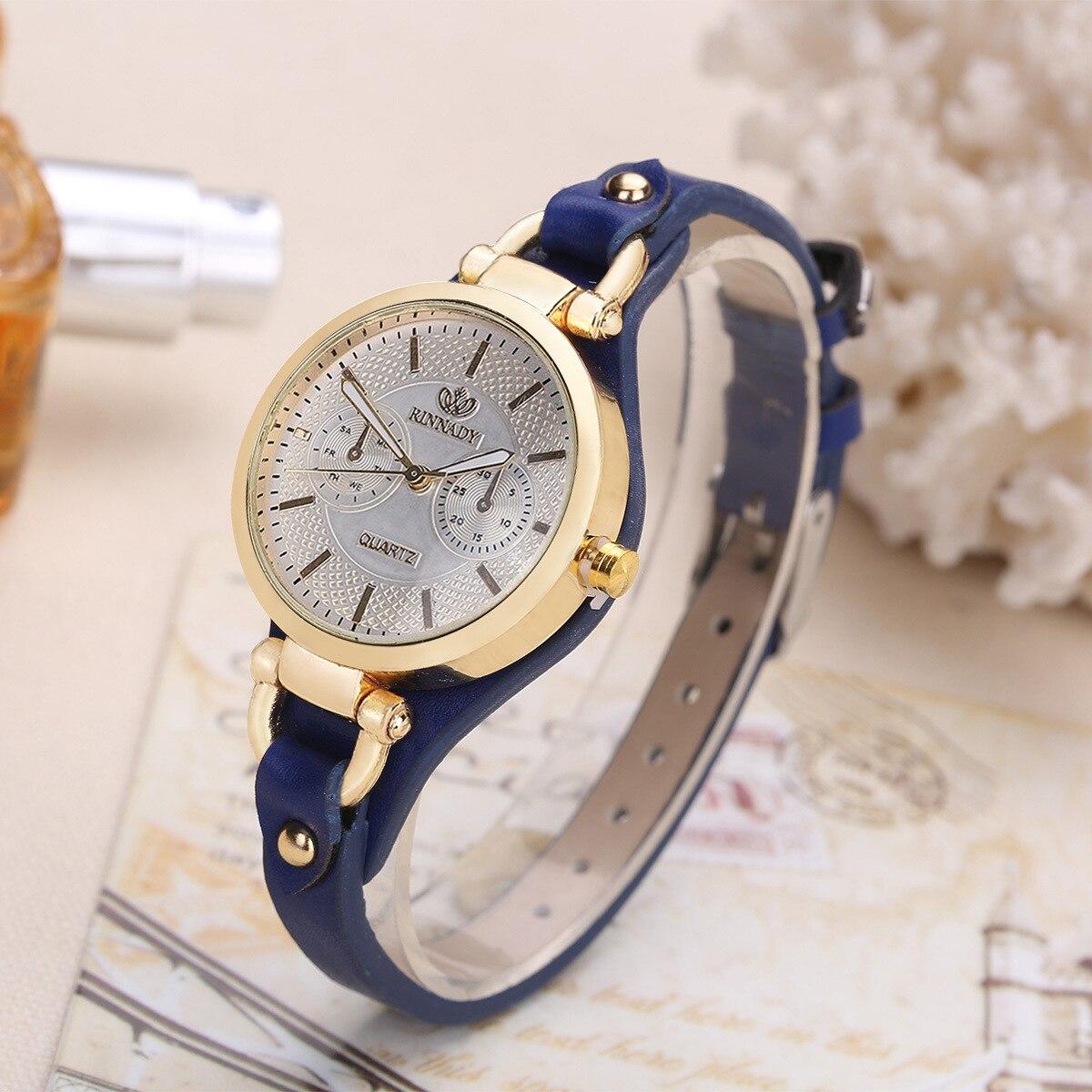 Marque de mode chaud femmes décontracté en cuir quartz rose or montre dames bracelet montres de luxe reloj mujer horloge livraison gratuite