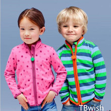 TBwish  Spring&Autumn Children Kids Boy girl hoodies Baby Boys girls stripe fleece jackets and coats kids boys sweatshirt