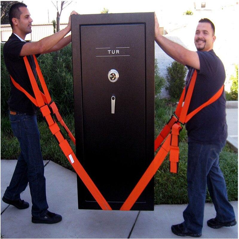 Novo útil levantamento movendo correia de transporte de móveis cinto em alças de ombro tiras de equipe mover mais fácil transporte de armazenamento laranja