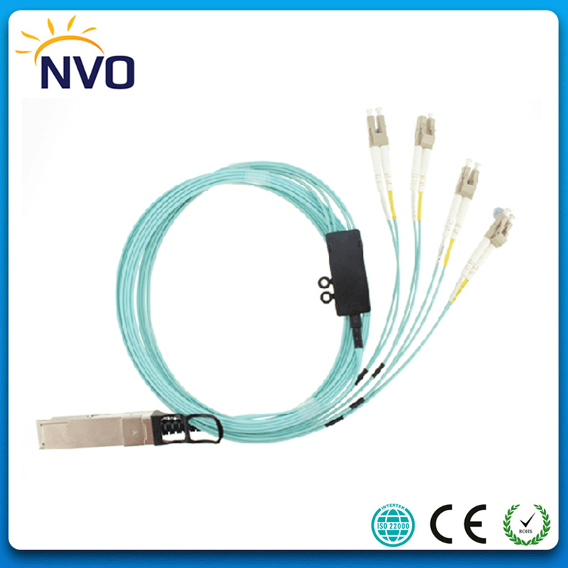 40G QSFP+ to 4 Duplex LC Breakout 2M(6ft) OM2 Cable AOC Active Optical Cable,40Gbps QSFP+ 8XLC Fiber Opotic Connector