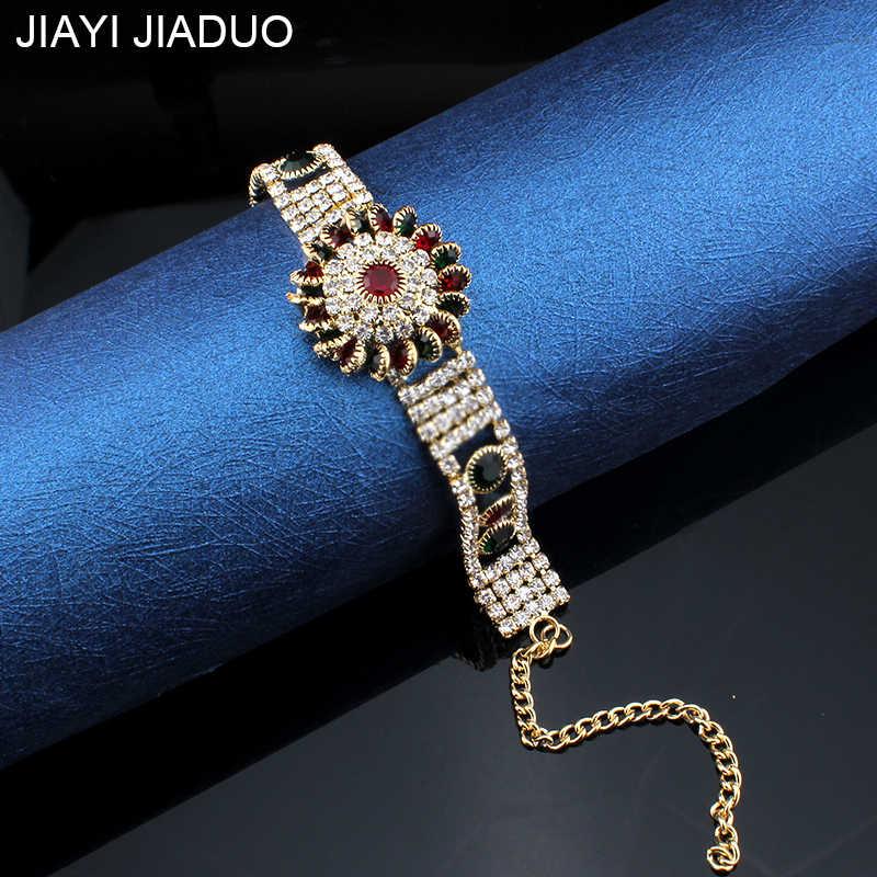 2018 Unique Charm Retro Cuff Bracelet For Women Gold Color Turkish Style Can Adjust Size Big Bracelet Party Jewelry Accessorie
