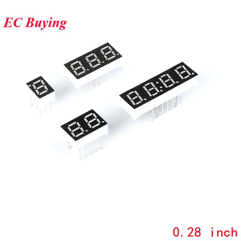 5Pcs 0.28 Inch Digital Tube 1Bit 2Bit 3Bit 4Bit Display Common Anode Common Cathode 0.28