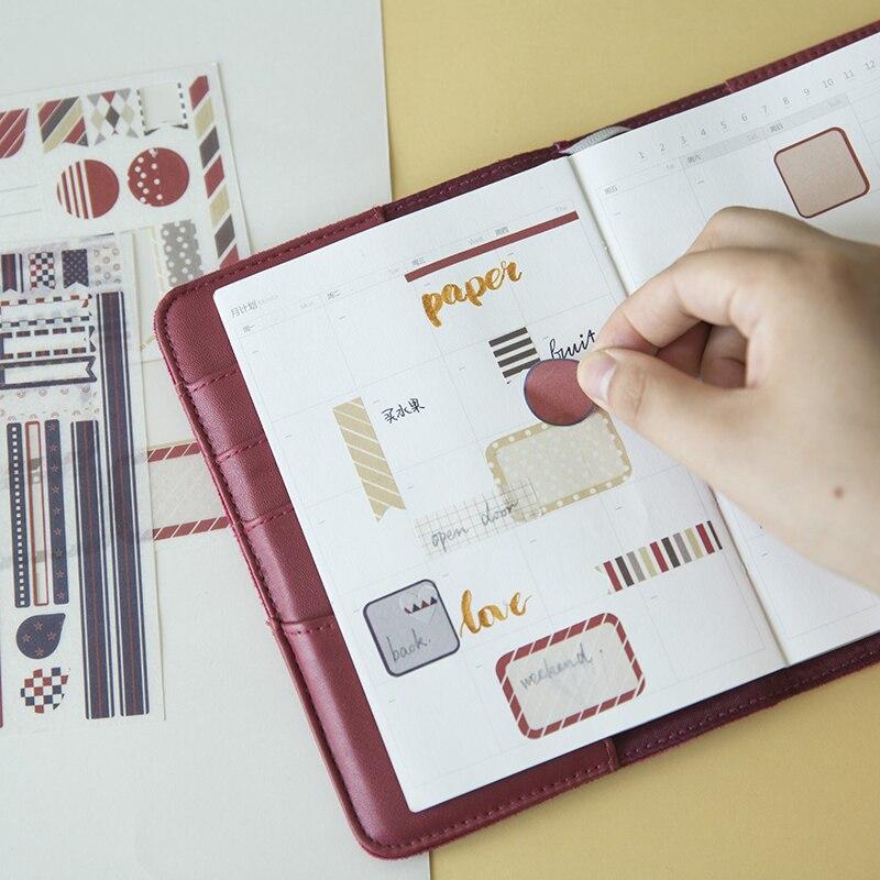DIY Bullet Journal Decorative Adhesive Sticker, Kids Craft Scrapbooking Cartoon Sticker Set for Diary, Album Calendars Planner