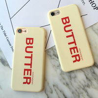 SZYHOME Phone Cases For IPhone 5 5s SE 6 6s 7 Plus Case Butter Funny Frosted