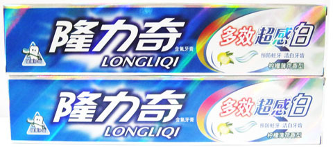 Its multi effect super flu white toothpaste / lemon mint flavor with natural detoxification / white teeth