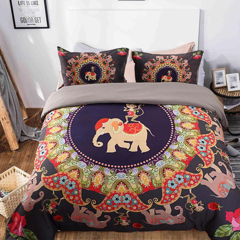 3D Mermaid Elephant Sky bedding Set Twin Queen King Duvet Cover Set Cotton Polyester Comforter Bedding Set Bedclothes Bed linen in Bedding Sets from Home Garden