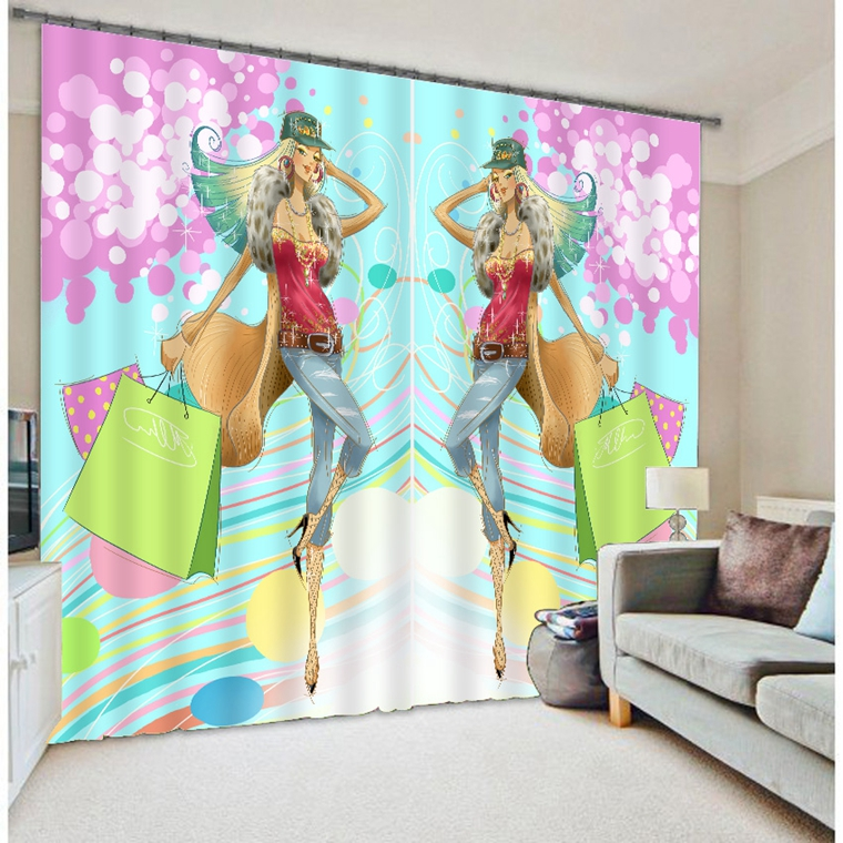 Top Selling New 3d Bedroom Design Curtain With Online Shopping Lady Handbag Pictures