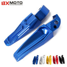 Motorcycle accessories Aluminum CNC Rear Foot Pegs Footrest Rear Passenger Footrests Blue For Yamaha MT07 MT09 2013-2015