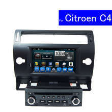 1024*600 Single Din Android Car Stereo for Citroen C4 Car Radio Multimedia Navigation System TV WIFI In Dash Car DVD Player GPS